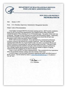 Customer Testimonial Bcpi Testimonial Letters