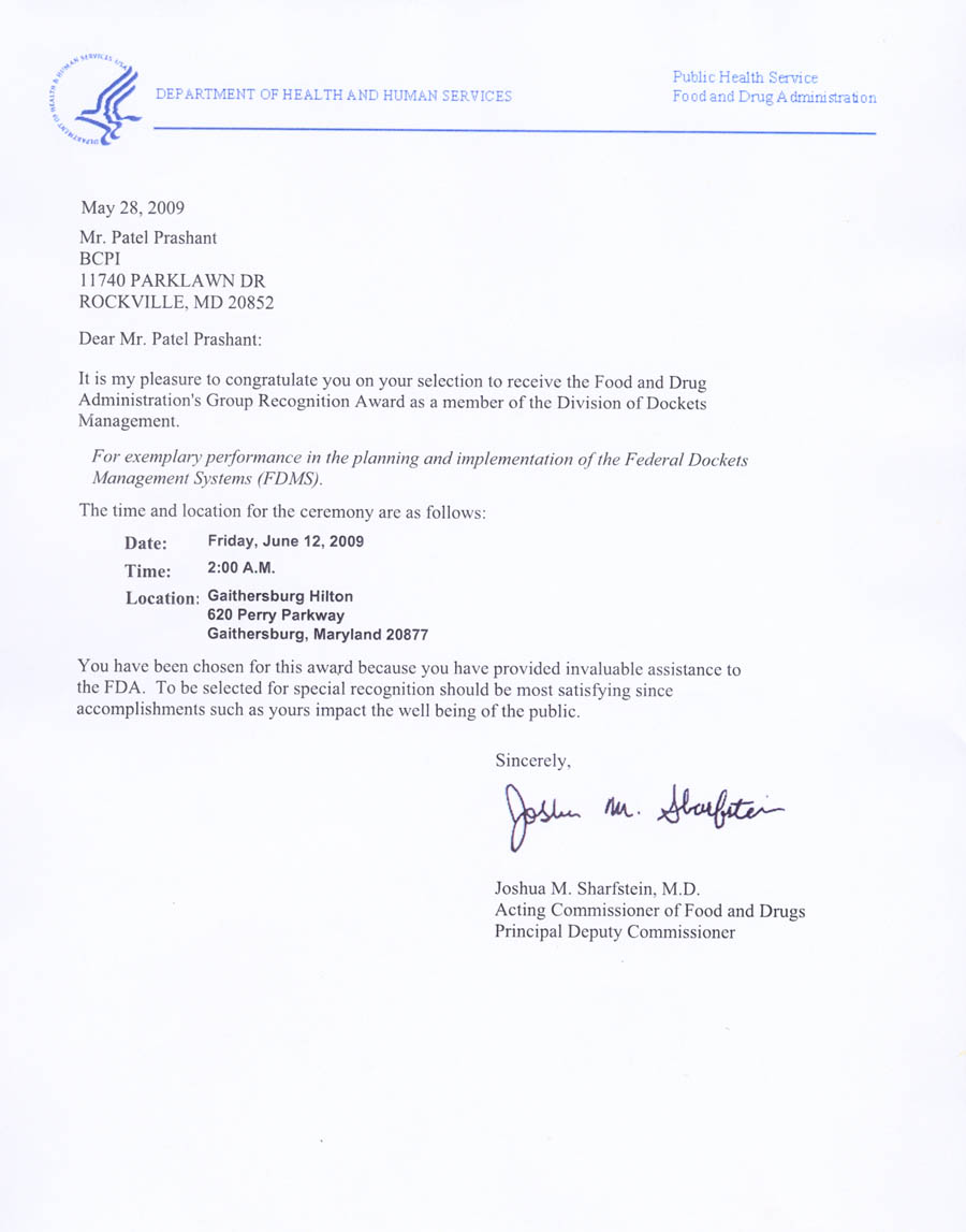 letter from to informatin for letter bcpi testimonial letter from dept of health and human services